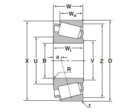 NTN - Tapered roller bearings (4T-L45449/L45410)